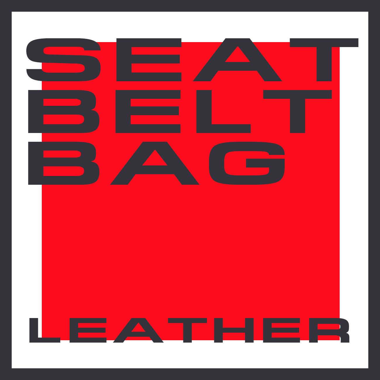 SEAT BELT BAG LEATHER