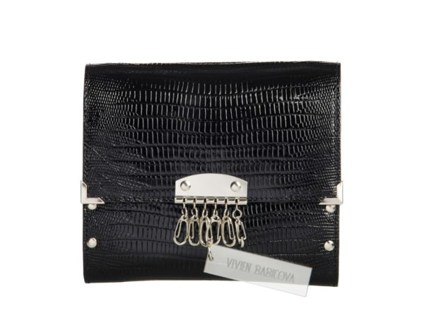 SEATBELT BAG CROCO BLACK by Vivien Babicova